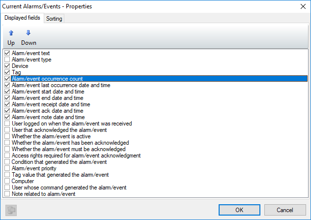 Consolidating repeated alarm occurrences into one instance
