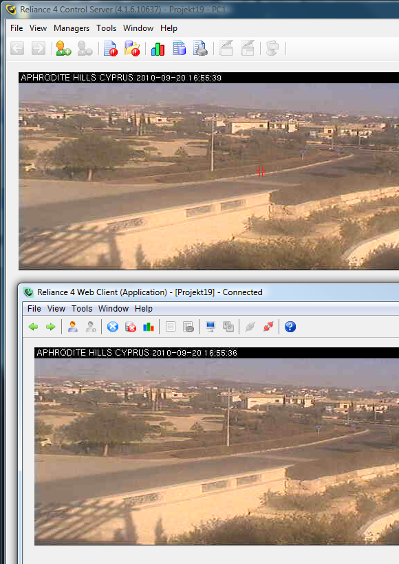 Displaying the current image from an IP camera directly in a visualization window