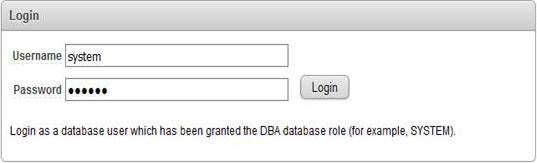 Oracle login