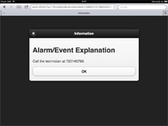 Alarm/Event – Explanation dialog