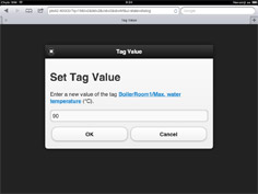 Tag Value dialog