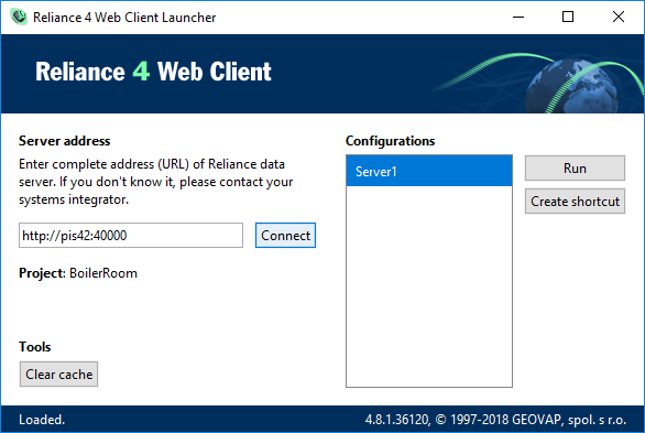 Reliance Web Client Launcher