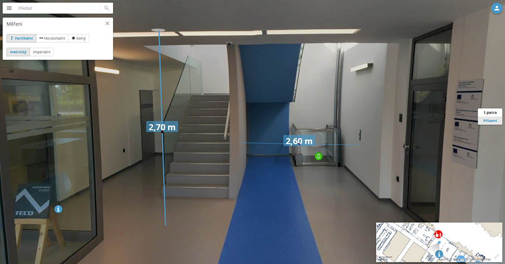 Height and width scanning, NavVis