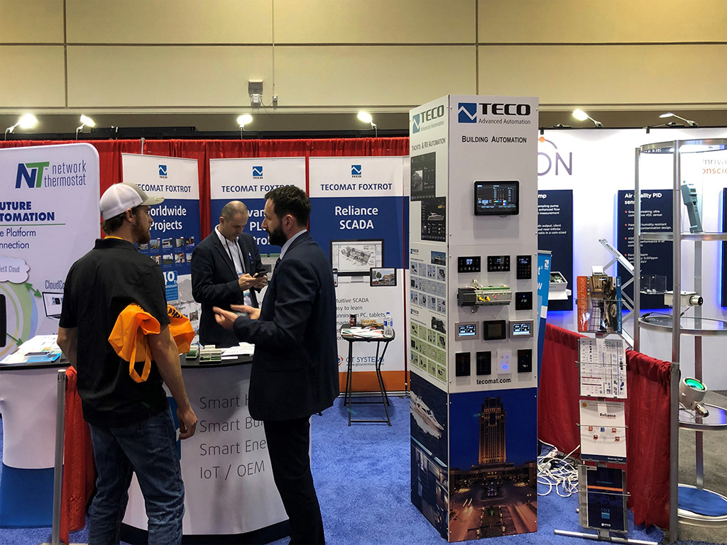 Teco's booth at the 2020 AHR Expo