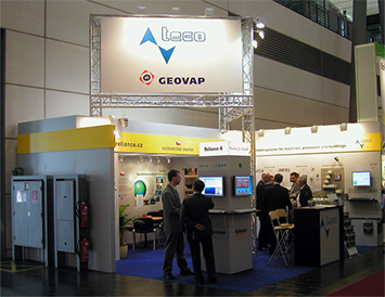 The GEOVAP, spol. s r.o. booth at Hannover Messe 2008