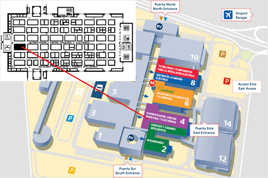 Map of the exhibition halls, MATELEC 2014