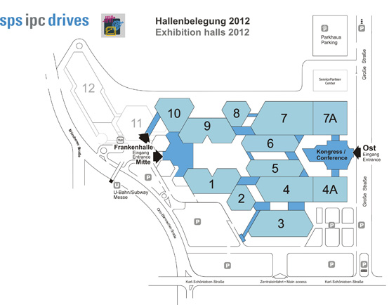 Map of the exhibiton halls