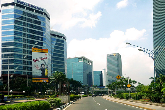 Jakarta - a modern metropolis with a population of over 10 million