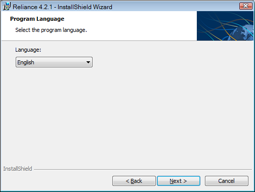 Selecting the program language