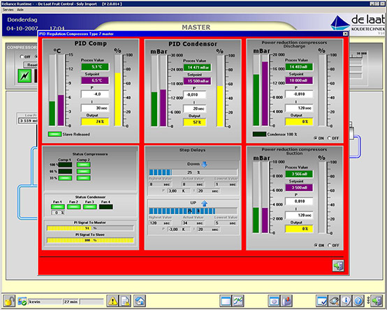 PID controllers' setup