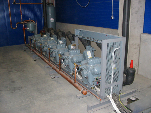 Compressors providing control of the cooling process