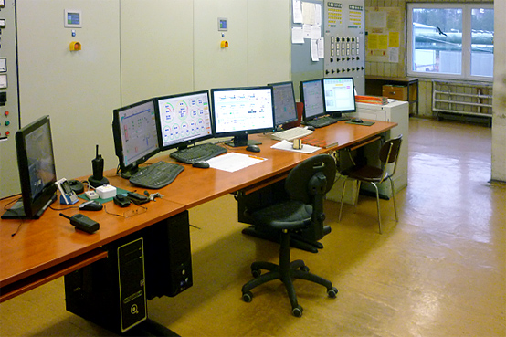 A photo of the operator's room