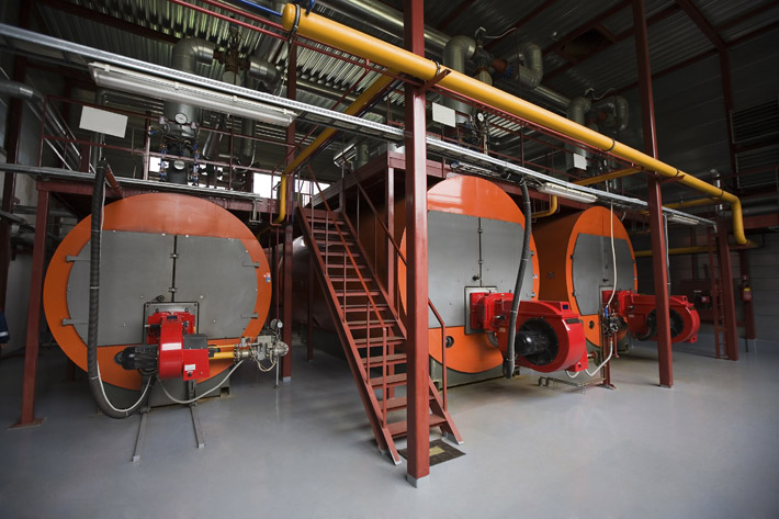 Boiler room, illustrative image
