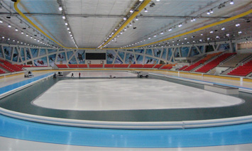The speed skating rink – panoramic view