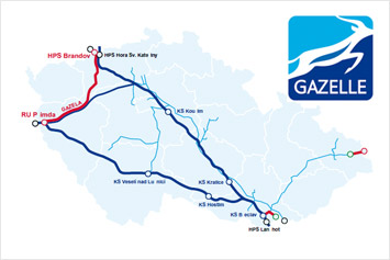 NET4GAS, Gazela Pipeline, illustrative image