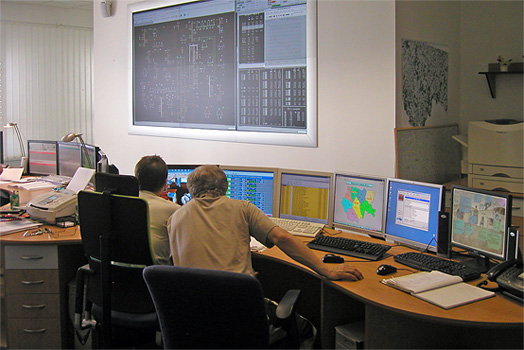 A picture of the main control room