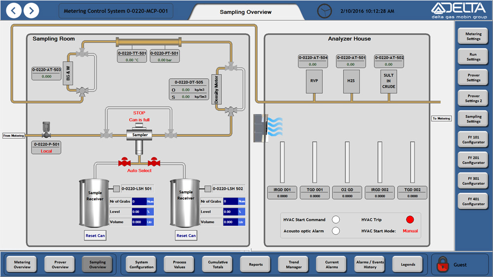 The sampling overview, Reliance SCADA