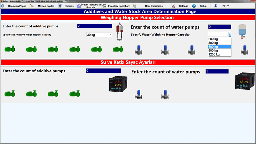 The plant configuration wizard – pump selection