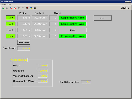 The main visualization window on Yerseke YE 62 fishing vessel
