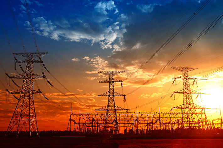 Power poles, illustrative image