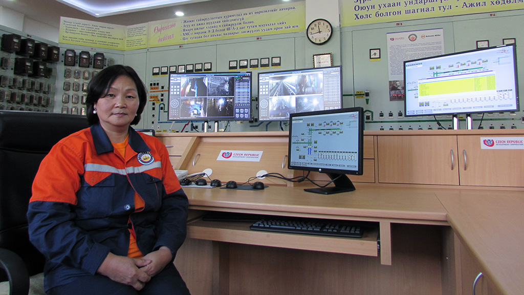 A picture of the main control room, TES-3 power plant, Ulaanbaatar