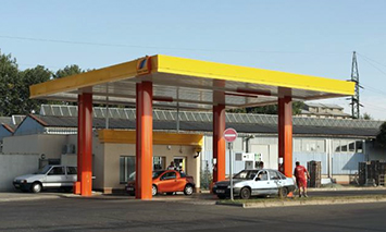 Gas station in Mohelnice