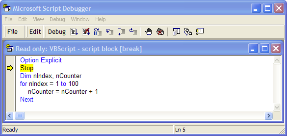 How to debug Reliance scripts with an external debugger