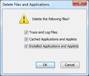 Java Delete Files and Applications