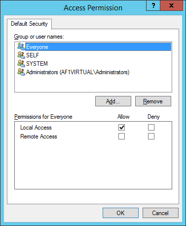 Reliance SCADA, Access Permission