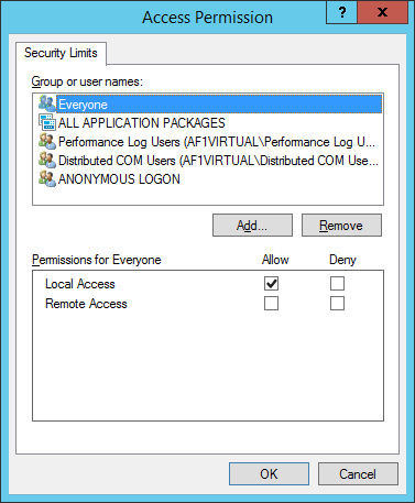 Reliance SCADA, Access Permission, user Everyone