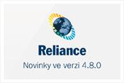 Novinky v systému Reliance 4.8.0