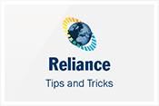 Reliance Tips and Tricks