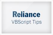 VBScript tip